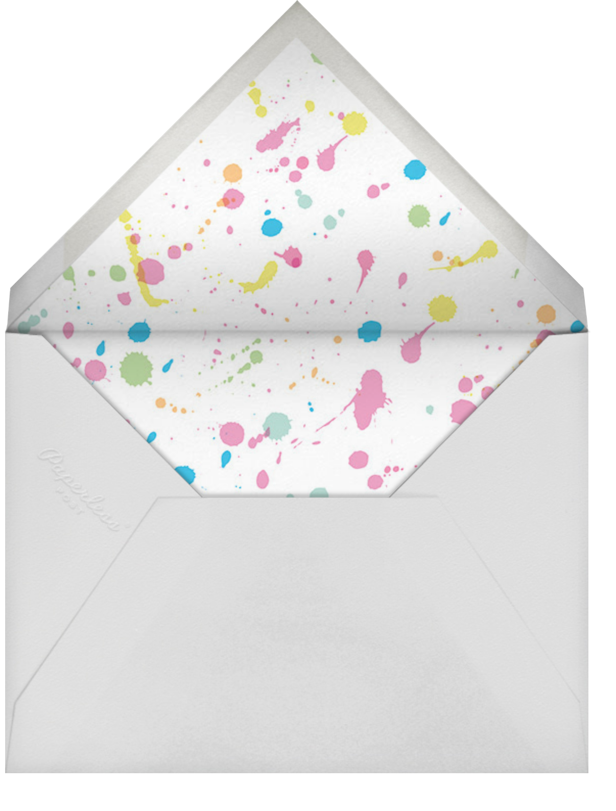 Arty Party - Hello!Lucky - Kids' birthday - envelope back