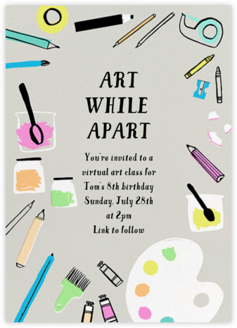 Arty Party - Hello!Lucky - Online Party Invitations