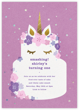 Unicorn Cake - Paperless Post - Kids' Birthday Invitations