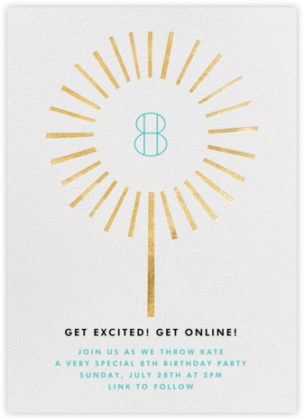 Year of the Sparkler - Gold/White - Paperless Post - Birthday invitations