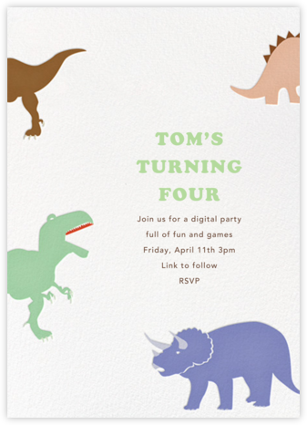 Dinosaurs - Paperless Post - Online Party Invitations