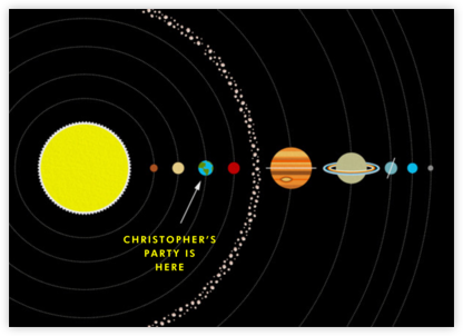 Solar System - Paperless Post - Invitations