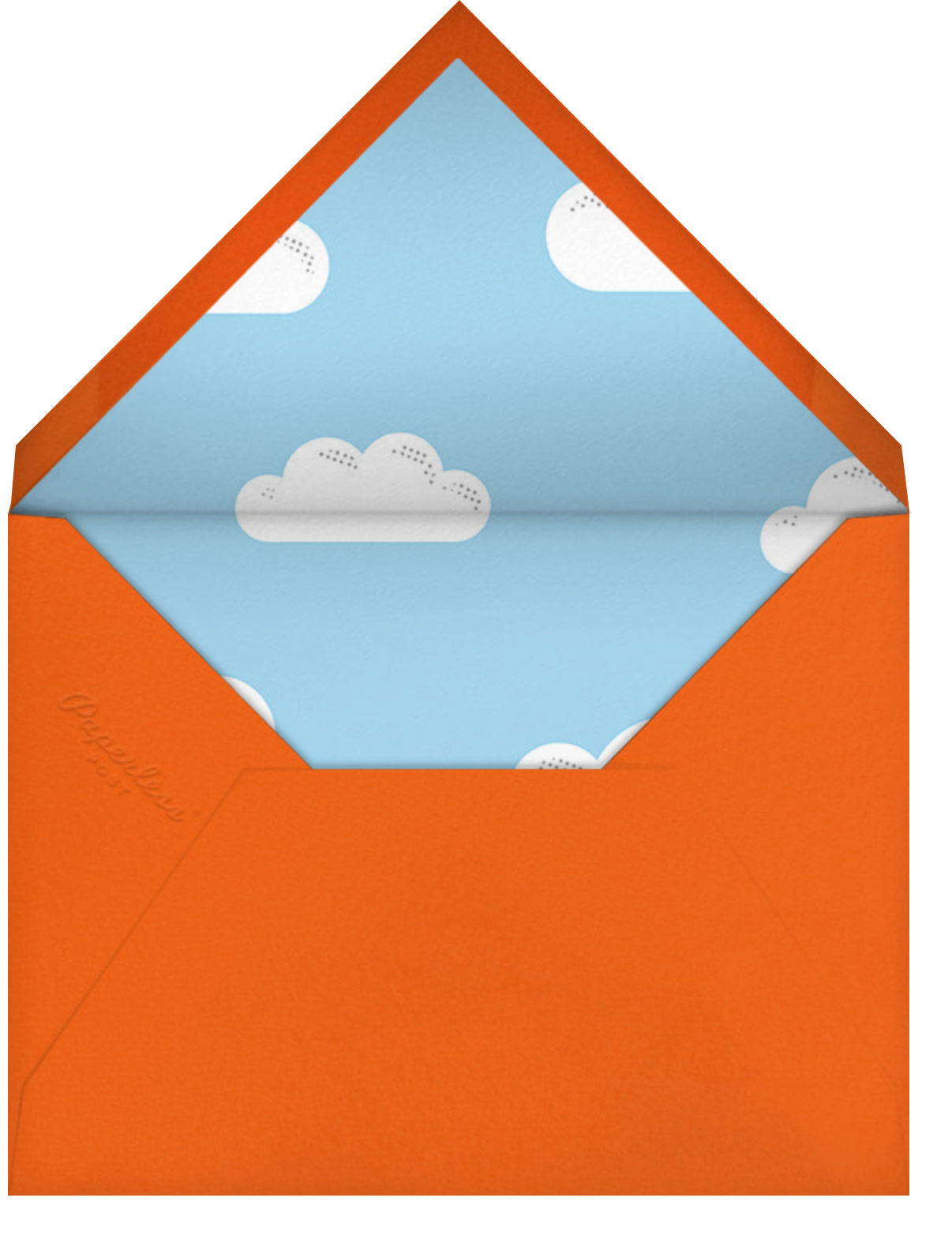 Airborne (Photo) - Paperless Post - Kids' birthday - envelope back