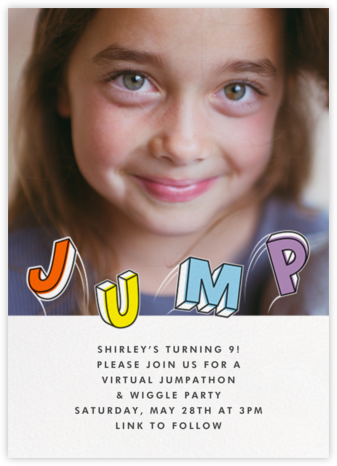 Airborne (Photo) - Paperless Post - Online Kids' Birthday Invitations