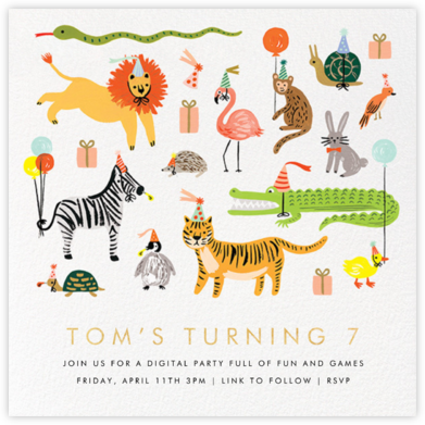 Animal House - Rifle Paper Co. - Online Party Invitations