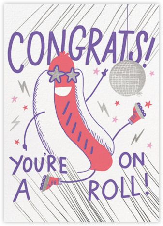 On A Roll - Hello!Lucky - Congratulations cards