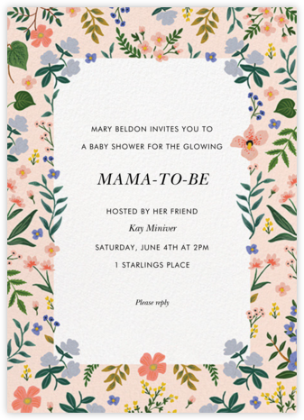 Wildwood Border - Rifle Paper Co. - Baby Shower Invitations