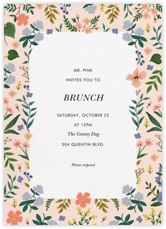 Wildwood Border - Rifle Paper Co. - Brunch invitations