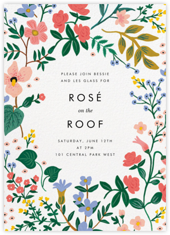 Wildwood (Invitation) - Rifle Paper Co. - Summer Party Invitations