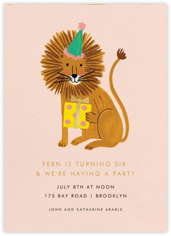 Lion Birthday - Rifle Paper Co. - Online Kids' Birthday Invitations