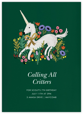 Magical Birthday (Invitation) - Forest Green - Rifle Paper Co. - Online Kids' Birthday Invitations