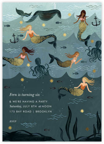 Vintage Mermaid - Rifle Paper Co. - Rifle Paper Co. Invitations