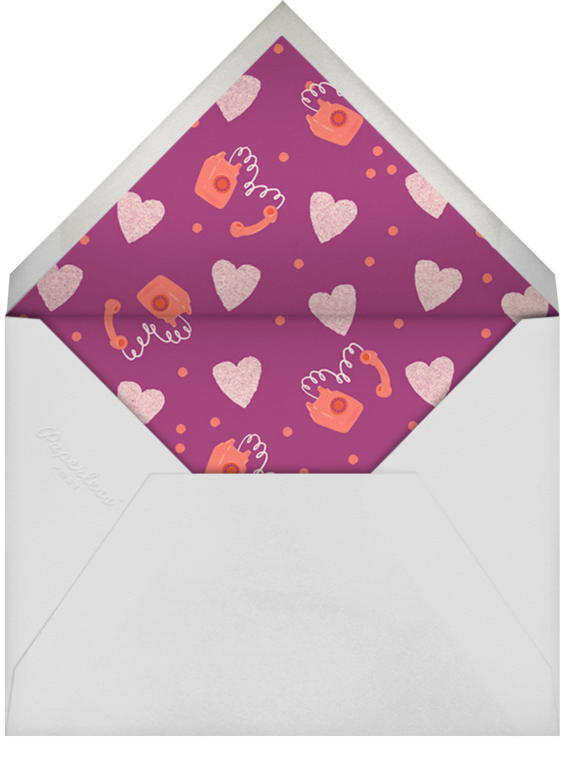 Heart Cord - Paperless Post - Mother's Day - envelope back