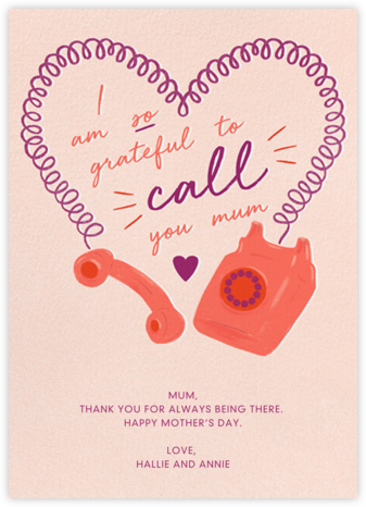 Heart Cord - Paperless Post - Mother's Day Cards