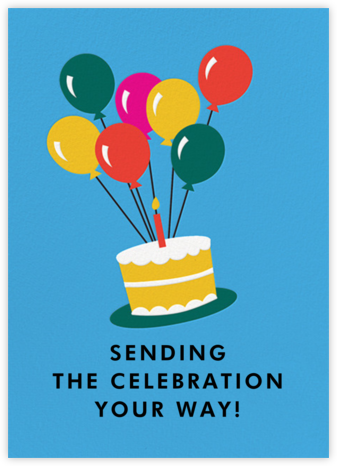 Floating Cake - Cheree Berry - Online Kids' Birthday Invitations