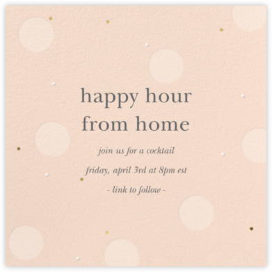 Digital Bubbles - Sugar Paper - Happy Hour Invitations