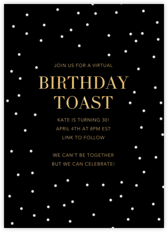 Birthday Spots - Black - Sugar Paper - Online Party Invitations