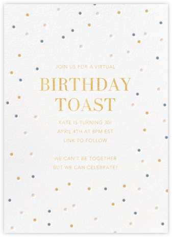 Birthday Spots - White - Sugar Paper - Virtual Parties