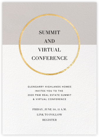 Burgoyne (Invitation) - Oyster/Gold - Paperless Post - Business event invitations