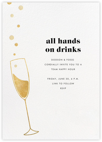 Champagne Bubbles - Paperless Post - Virtual Parties