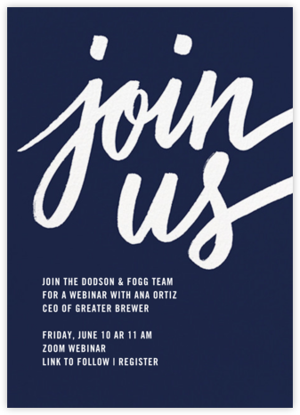 Rosina - Navy - Paperless Post - Get-together invitations