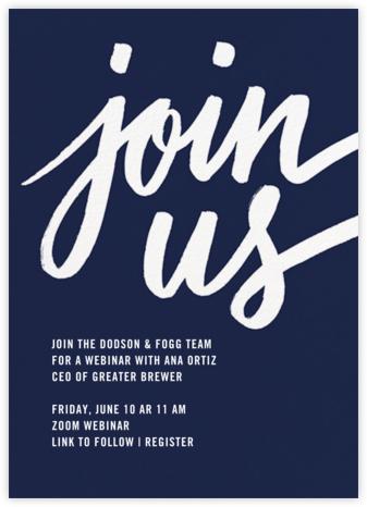 Rosina - Navy - Paperless Post - Virtual Parties