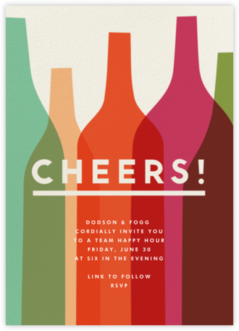 Wine Overlap - The Indigo Bunting - Happy Hour Invitations