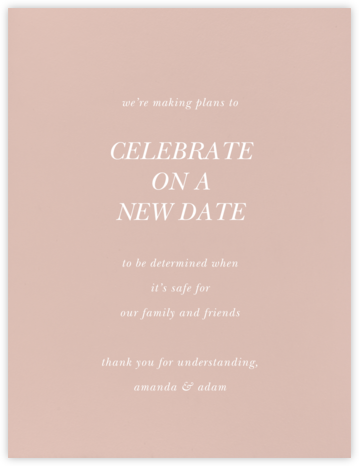 Rose (Tall) - Paperless Post - Wedding Invitations