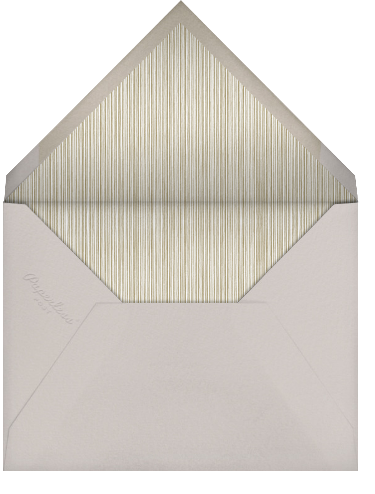 Mint - Paperless Post - Wedding postponement - envelope back