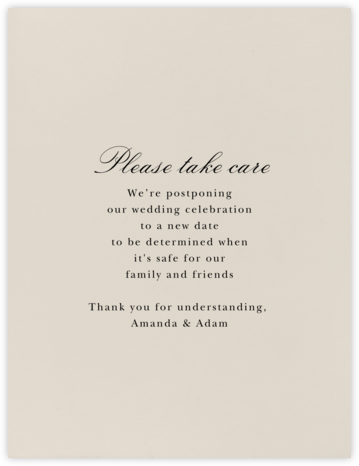 Sand - Paperless Post - Wedding Postponement Cards