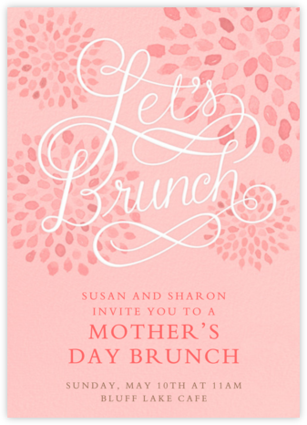 Let's Brunch - Crate & Barrel - Online Mother's Day invitations