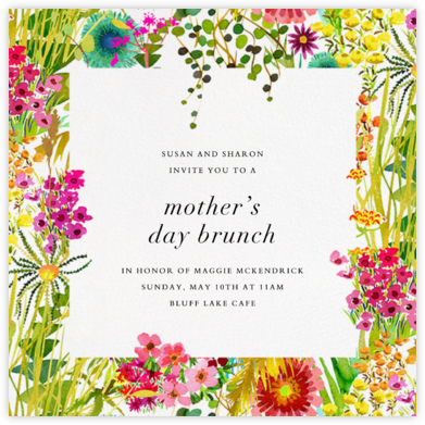 Tresco (Invitation) - Liberty - Online Mother's Day invitations