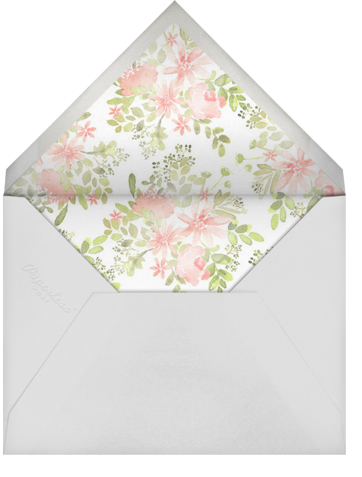 Pressed Blossoms - Pink - Paperless Post - Mother's Day - envelope back