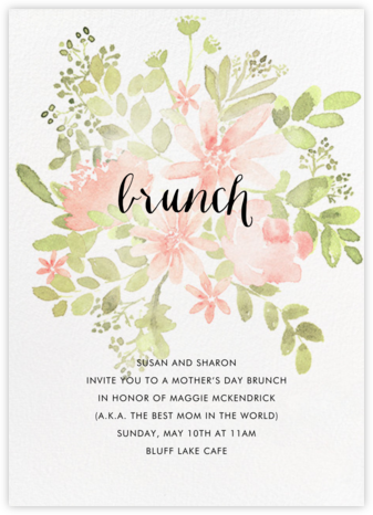 Pressed Blossoms - Pink - Paperless Post - Online Mother's Day invitations