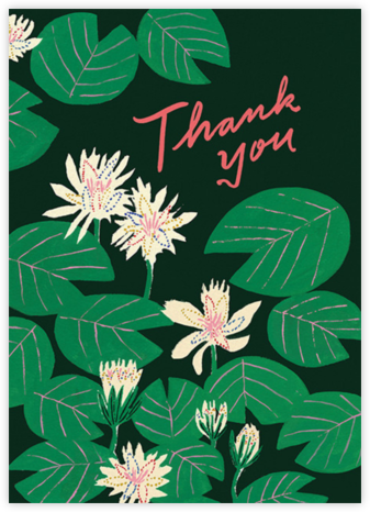 Lily Pads (Emily Isabella) - Red Cap Cards - Online Thank You Cards