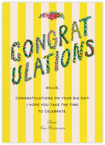 Congrats in Bloom (Danielle Kroll) - Red Cap Cards - Congratulations cards