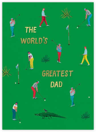 Putting Green (Danielle Kroll) - Red Cap Cards - Father's Day Cards