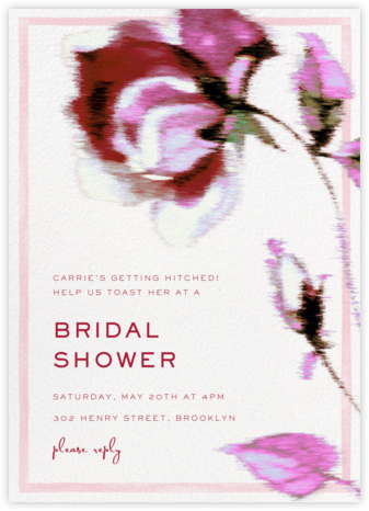 Abstracted Bloom - Pink - Carolina Herrera - Bridal shower invitations