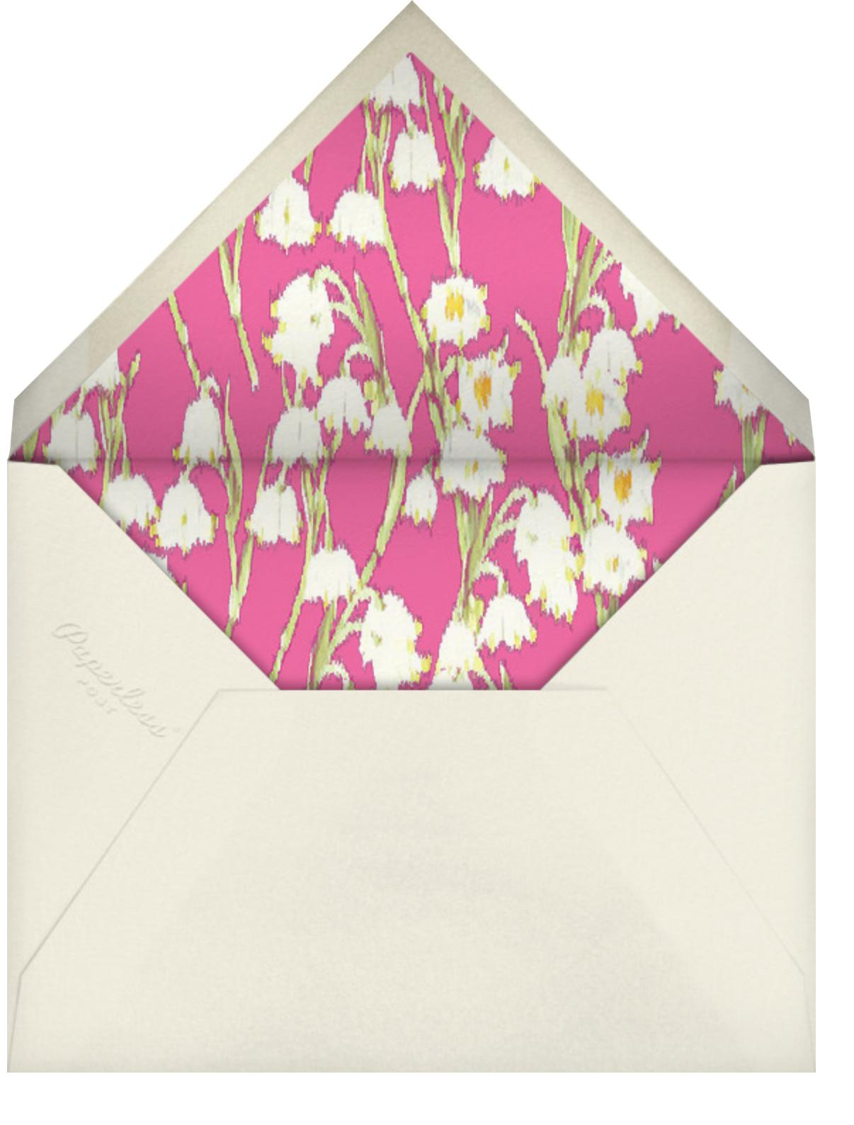 Garden Lilies - Pink - Carolina Herrera - Bridal shower - envelope back
