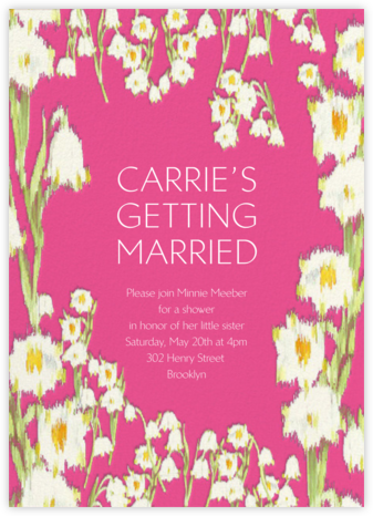 Garden Lilies - Pink - Carolina Herrera - Bridal shower invitations