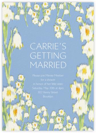Garden Lilies - Blue - Carolina Herrera - Bridal shower invitations