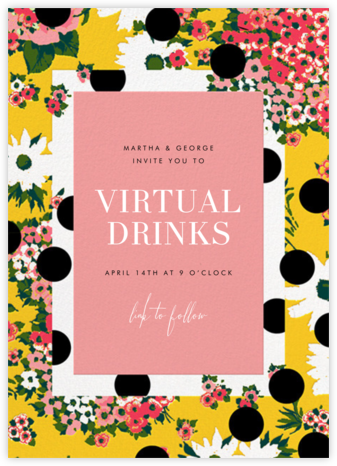 Floral Dots - Carolina Herrera - Happy Hour Invitations