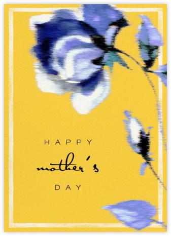 Abstracted Bloom (Greeting) - Yellow - Carolina Herrera -