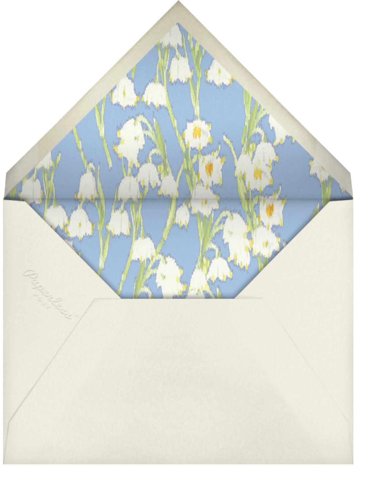 Garden Lilies (Greeting) - Blue - Carolina Herrera - Thinking of you - envelope back