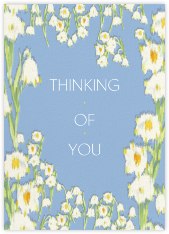 Garden Lilies (Greeting) - Blue - Carolina Herrera - Thinking of you cards
