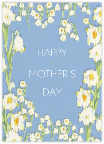 Garden Lilies (Greeting) - Blue - Carolina Herrera -