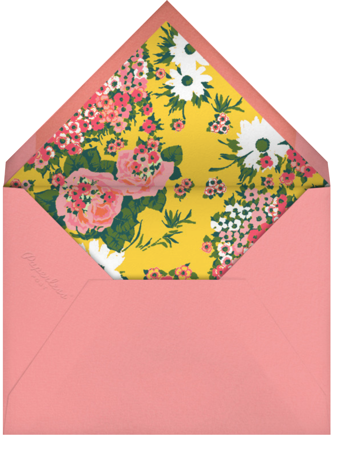 Floral Dots (Greeting) - Carolina Herrera - Mother's Day - envelope back