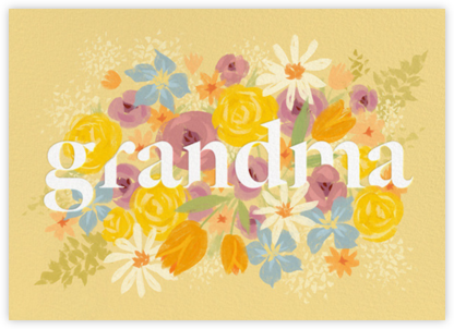 Grandma in Bloom - Paperless Post - Mother's Day Cards