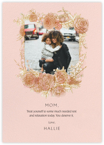 Blooming Frame - Paperless Post - Holiday cards