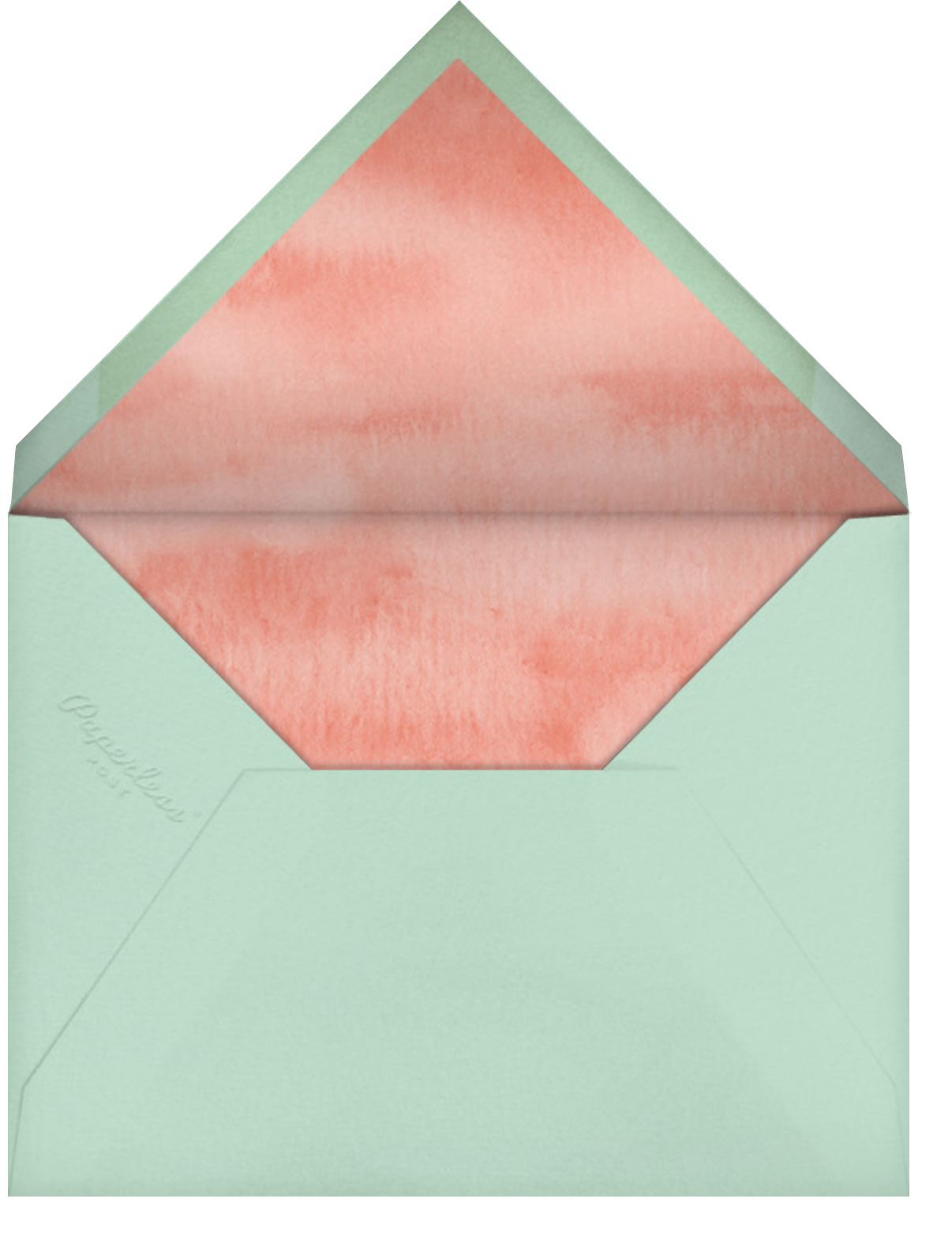 Peach Perfect - Paperless Post - Mother's Day - envelope back